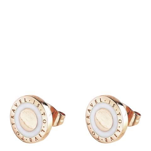 Dyrberg Kern Rose Gold/White Stud Earrings