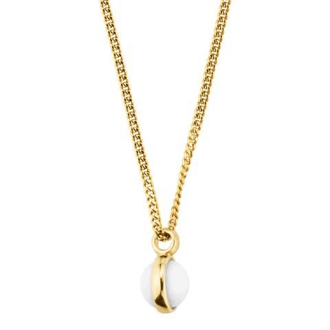 Dyrberg Kern Gold Globe Pendant Necklace 80cm