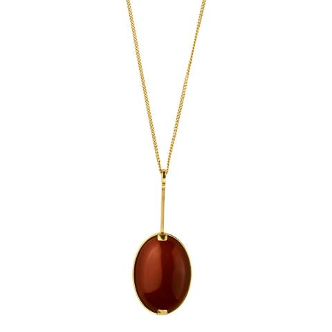 Dyrberg Kern Red Oval Pendant Necklace