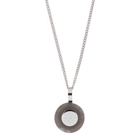 Dyrberg Kern Silver Disc Pendant Necklace