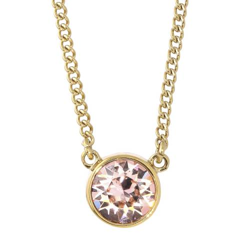 Dyrberg Kern Rose Gold Pendant Necklace with Swarovski Crystals