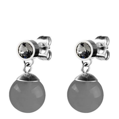 Dyrberg Kern Silver/Grey Earrings with Swarovski Crystals