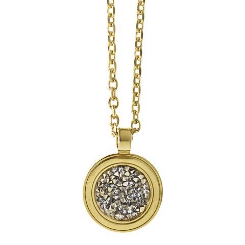 Dyrberg Kern Gold Pendant Necklace with Swarovski Crystals