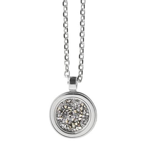 Dyrberg Kern Silver Pendant Necklace with Swarovski Crystals
