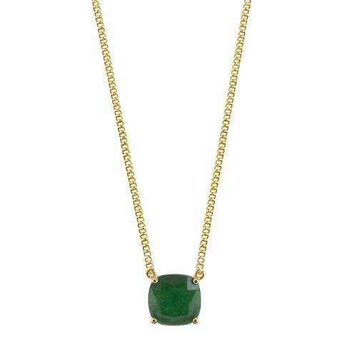 Dyrberg Kern Emerald Green Pendant Necklace