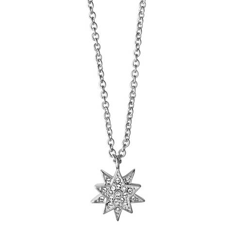 Dyrberg Kern Silver Star Pendant Necklace with Swarovski Crystals