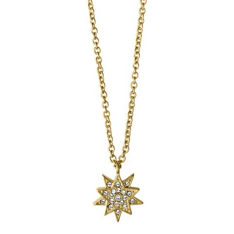 Dyrberg Kern Gold Star Pendant Necklace with Swarovski Crystals