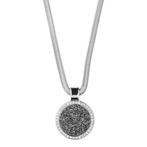 Dyrberg Kern Silver Pendant Necklace with Swarovski Crystals