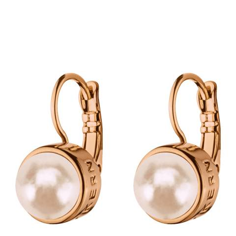 Dyrberg Kern Rose Gold Huggie Earrings with Swarovski Crystals