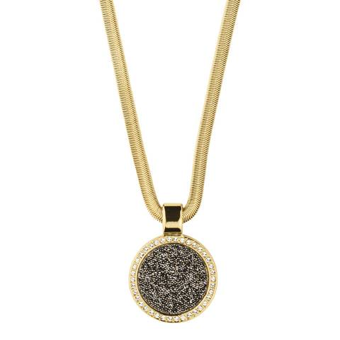 Dyrberg Kern Gold Pendant Necklace with Swarovski Crystals