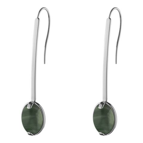Dyrberg Kern Green/Silver Drop Earrings