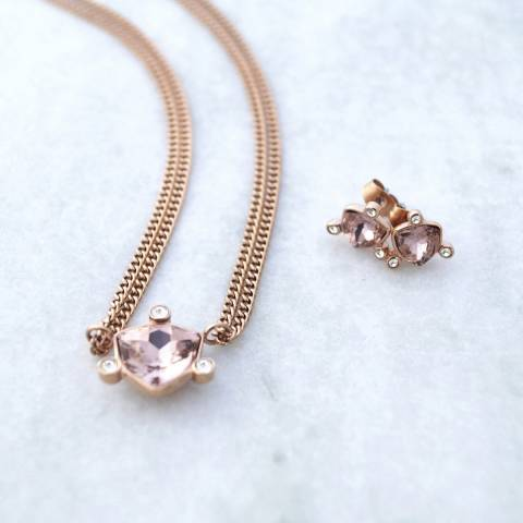 Dyrberg Kern Rose Gold Necklace and Earrings Set