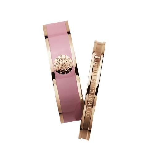 Dyrberg Kern Pink/Rose Gold Bangle Set of 2