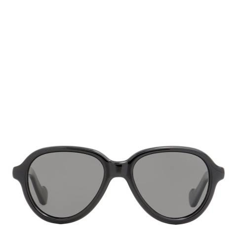 Moncler Unisex Shiny Black Moncler Sunglasses 52mm