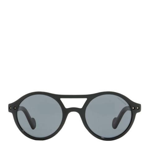 Moncler Unisex Shiny Black Moncler Sunglasses 51mm