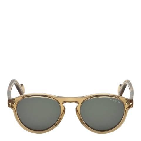 Moncler Unisex Shiny Light Brown Moncler Sunglasses 51mm