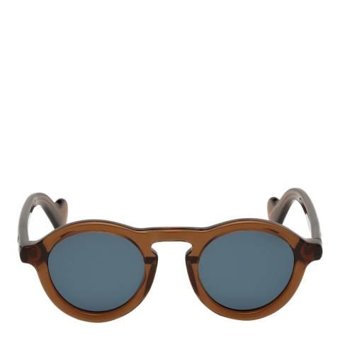 Moncler Unisex Light Brown/Blue Moncler Sungasses 46mm