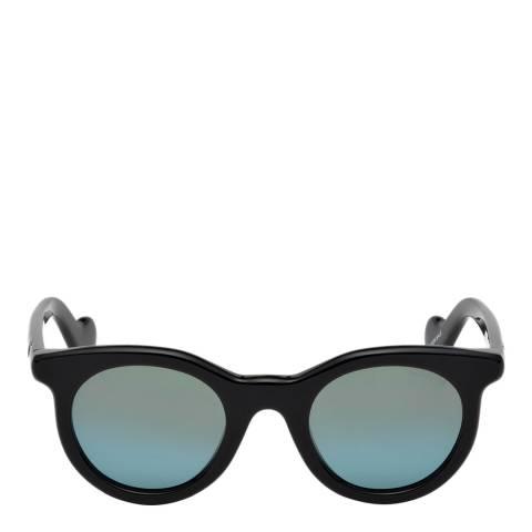 Moncler Women's Shiny Black Moncler Sungasses 47mm