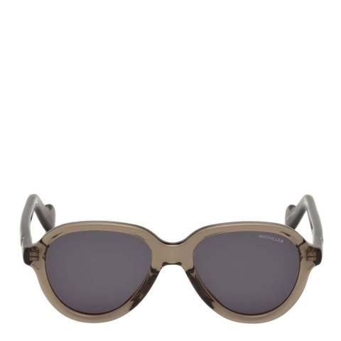 Moncler Unisex Shiny Dark Brown Moncler Sunglasses 52mm