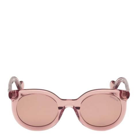 Moncler Women's Shiny Pink Moncler Sungasses 51mm