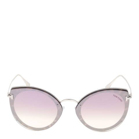Tom Ford Women's Silver/Grey/Violet Tom Ford Sunglasses 63mm