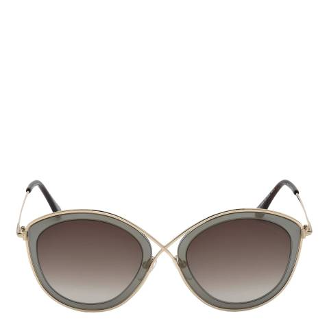 Tom Ford Women's Gold And Grey/Brown Tom Ford Sunglasses 55mm