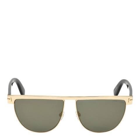 Tom Ford Women's Shiny Rose Gold/Mirrored Smoke Tom Ford Sunglasses 60mm