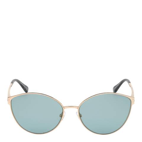 Tom Ford Women's Shiny Rose Gold/Mirrored Blue Tom Ford Sunglasses 60mm