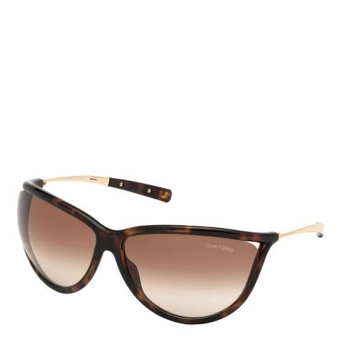 Tom Ford Women's Dark Havana/Gradient Brown Tom Ford Sunglasses 70mm