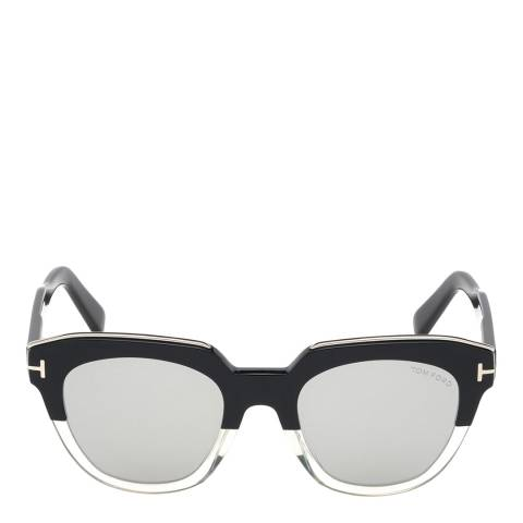 Tom Ford Women's Black Crystal/Grey Mirrored Tom Ford Sunglasses 51mm