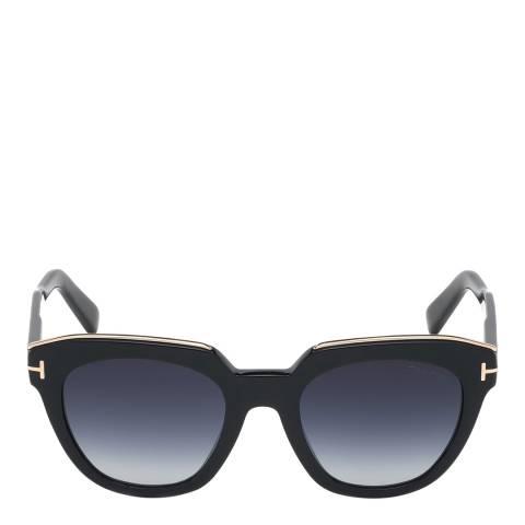 Tom Ford Women's Shiny Black/Blue Tom Ford Sunglasses 53mm