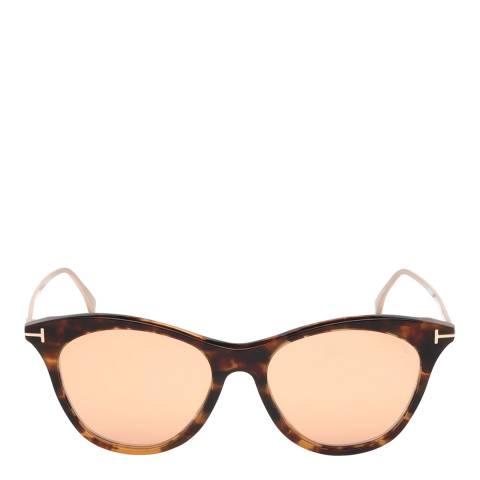 Tom Ford Women's Havana/Pink Tom Ford Sunglasses 53mm