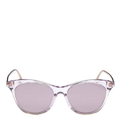 Tom Ford Women's Shiny Pink/Mirrored Purple Tom Ford Sunglasses 53mm