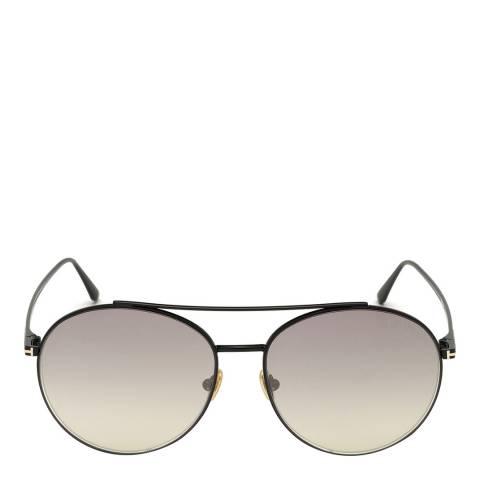 Tom Ford Women's Shiny Black/Smoke Mirror Tom Ford Sunglasses 61mm