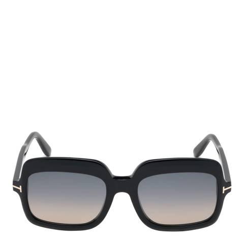 Tom Ford Women's Shiny Black/Smoke Tom Ford Sunglasses 56mm