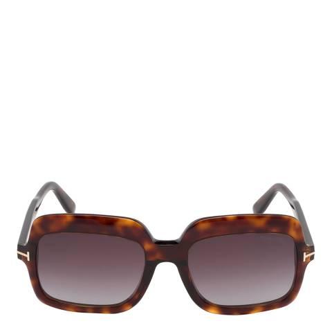 Tom Ford Women's Red Havana/Brown Tom Ford Sunglasses 56mm