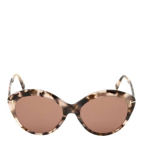 Tom Ford Women's Burnt Havana/Brown Tom Ford Sunglasses 57mm