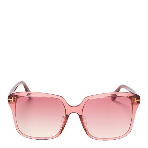 Tom Ford Women's Transparent Pink/Pink Tom Ford Sunglasses 58mm