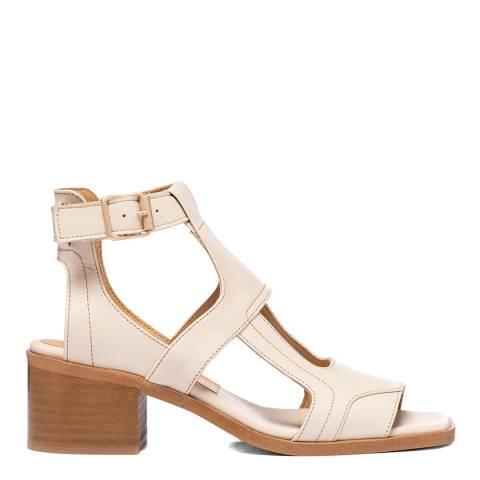 Oliver Sweeney Cream Mariana Leather Heeled Sandals