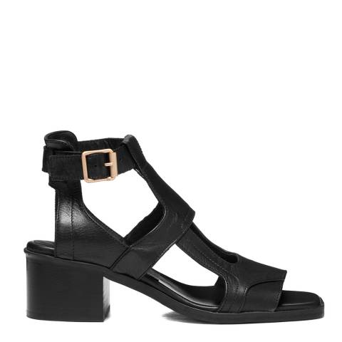 Oliver Sweeney Black Mariana Leather Heeled Sandals