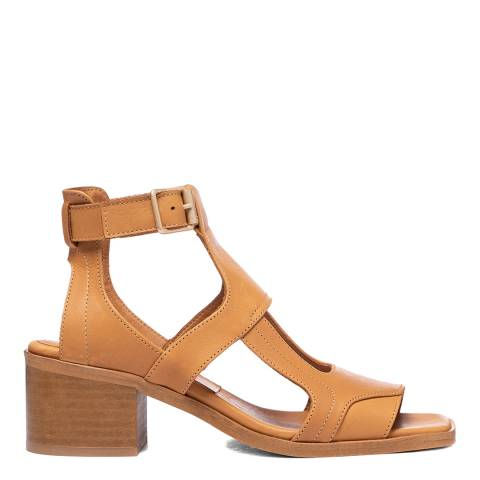 Oliver Sweeney Tan Mariana Leather Heeled Sandals