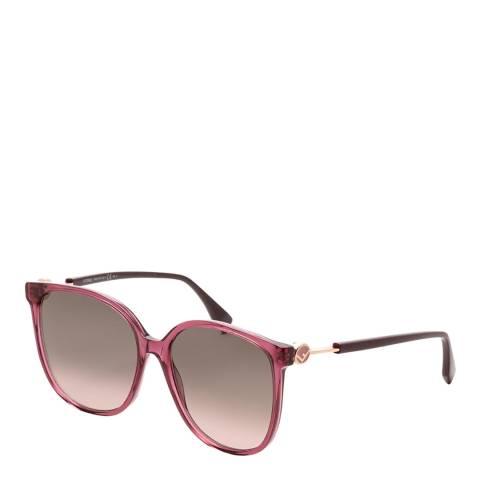 Fendi Women's Plum Sunglasses 58mm