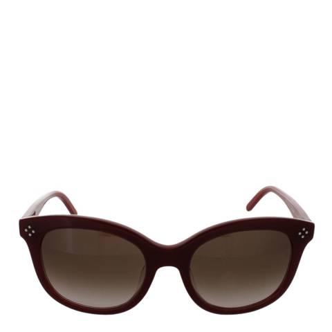Chloe Women's Bordeaux/Red Chloe Sunglasses 56mm