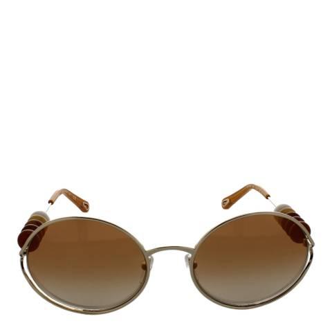 Chloe Women's Gold/Gradient Burnt Flash Chloe Sunglasses 57mm