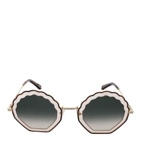 Chloe Women's Havana Rose/Gradient Green Chloe Sunglasses 56mm