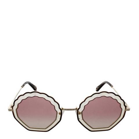 Chloe Women's Havana Sand/Gradient Rose Chloe Sunglasses 56mm