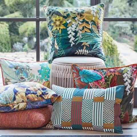Riva Home Hidden Paradise Cushion 55x55cm, Emerald