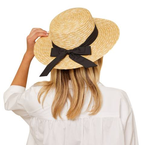 N°· Eleven Cream Woven Straw Boater Hat
