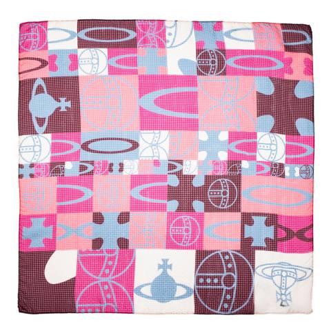 Vivienne Westwood Oxblood Checker Square Scarf