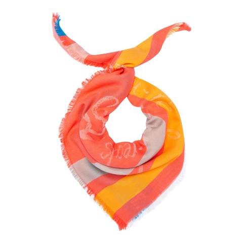 Vivienne Westwood Coral Red Mirror the World Scarf